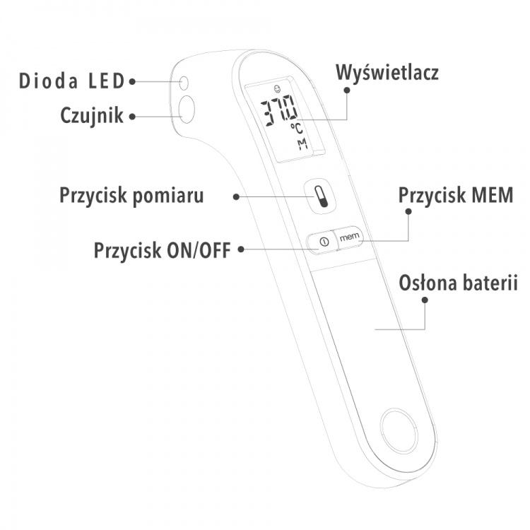 Vitammy Spot Elektroniczny Termometr Bezkontaktowy